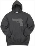 Hoodie: Gun created out of 2nd Amendment T-shirts