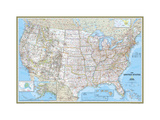 United States Political Map Premium Giclée-tryk af  National Geographic Maps