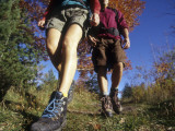 Couple Hiking During Autumn Photographic Print