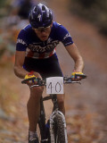 Male Mountain Biker Competing in a Race 1993 NY State Championships Photographic Print