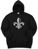 Hoodie: Saints Go Marching In Fleur De Lis Pullover Hoodie