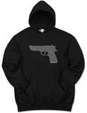 Hoodie: Gun created out of 2nd Amendment T-Shirt