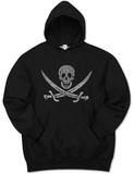 Hoodie: Pirate Flag Mikina s kapucí