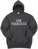 Hoodie: San Francisco Neighborhoods Pullover Hoodie