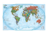 World Explorer Map Premium Giclée-tryk af  National Geographic Maps