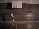 Young Boy Practicing his Basketball Shooting Photographic Print