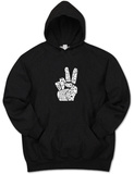 Hoodie: Give Peace a Chance Fingers Pullover Hoodie