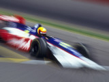 Blurred Auto Racing Action Photographic Print