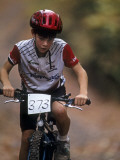 Young Male Mountain Biker Competing in a Race 1993 NY State Championships Photographic Print