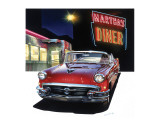 Buick '56 at Martha's Diner Premium Giclee Print by Graham Reynold