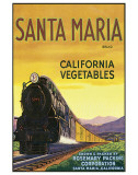 Santa Maria Brand California Vegetables Premium Giclee Print