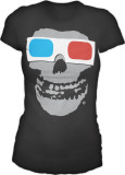Juniors:  The Misfits - 3D Skull T-Shirt