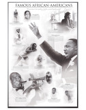 Famous African-Americans, Giclee Print