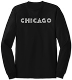 Long Sleeve: Chicago Neighborhoods T-Shirt