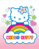 Hello Kitty Rainbow Poster