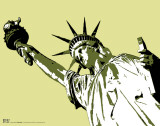 Steez - Lady Of Liberty Masterprint by  Steez