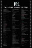 """De 101 bästa filmcitaten, """"101 Greatest Movie Quotes"""" Affischer"""