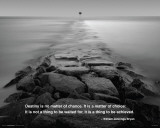 Ocean - Rocky Path Quote Photo
