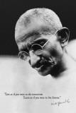 Gandhi - Live Forever Posters
