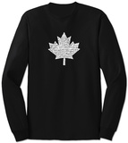 Long Sleeve: Canada National Anthem Tshirts