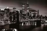 Brooklyn Bridge - B&W - Afiş