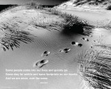 Footprints - Quote Prints