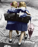 Schoolgirls - Walking And Embracing Prints