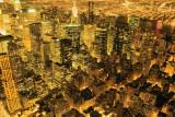New York - Manhattan At Night Poster