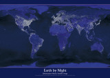 La Terre vue de nuit Posters