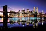 Brooklyn Bridge – barevná fotografie Plakát
