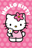 Hello Kitty Polka Dot Flower Poster