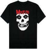 Misfits - Red logo Misfits skull T-shirt
