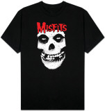 Misfits - Red logo Misfits skull T-Shirt