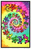 Grateful Dead - Spiral Bears Poster