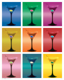 Martini Glasses Posters