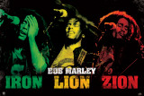 Bob Marley - Iron Lion Zion Affiche