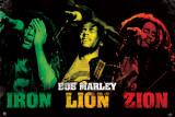 Bob Marley - Iron Lion Zion Affiche