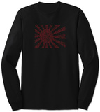 Long Sleeve: Banzai Flag out of Japanese National Anthem T-Shirt