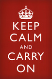 Keep Calm And Carry On, en inglés Posters