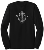 Long Sleeve: Navy Anchors Aweigh Tshirts