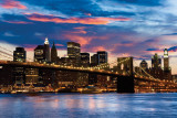 Brooklyn Bridge At Dusk Prints