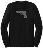 Long Sleeve: Gun created out of 2nd Amendment T-shirty
