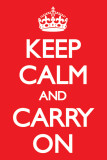 Keep Calm and Carry On - Red Obrazy