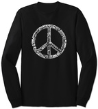 Long Sleeve: Peace in 77 Languages T-shirts