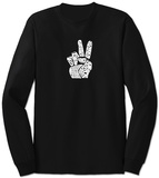 Long Sleeve: Give Peace a Chance Fingers T-Shirt
