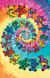 Grateful Dead - Spiral Bears Poster