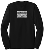 Long Sleeve: Greatest Rap Hits Boom Box T-Shirt