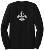 Long Sleeve: Saints Go Marching In Fleur De Lis T-shirts manches longues