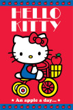 Hello Kitty An Apple A Day Posters