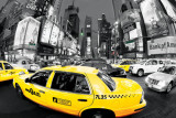 Rush Hour Times Square - Yellow Cabs Kunstdruck